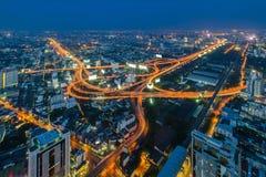 Bangkok Expressway and Highway. Top view, Thailand Royalty Free Stock Images