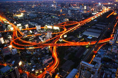 Bangkok Expressway and Highway top view, Thailand Stock Images
