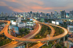 Bangkok Expressway and Highway top view, Thailand Royalty Free Stock Image