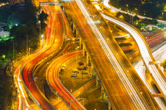 Bangkok Expressway and Highway top view, Thailand Royalty Free Stock Photo