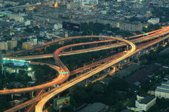 Bangkok Expressway and Highway top view, Thailand Royalty Free Stock Photography