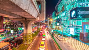 Bangkok Expressway and Highway top view, Thailand. November, 2016. 4K TimeLapse stock video footage