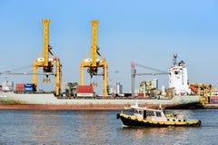 BANGKOK, février 26,2015 : Autorité portuaire de la Thaïlande Photos libres de droits