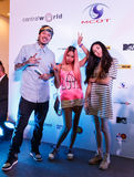 BANGKOK - 19 FÉVRIER 2014 : Dandee (chanteur d'avance avec projet E Photographie stock