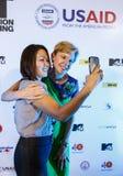 BANGKOK - 19 FÉVRIER 2014 : L'Ambassadeur Kristie Kenney des USA à MTV Photographie stock libre de droits