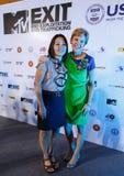 BANGKOK - 19 FÉVRIER 2014 : L'Ambassadeur Kristie Kenney des USA à MTV Image stock