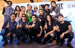 BANGKOK - 19 FÉVRIER 2014 : L'Ambassadeur Kristie Kenney des USA à MTV Photos libres de droits