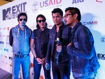 BANGKOK - 19 FÉVRIER 2014 : MTV sortent la conférence de presse tenue en ce Photo stock