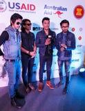 BANGKOK - 19 FÉVRIER 2014 : MTV sortent la conférence de presse tenue en ce Photo libre de droits