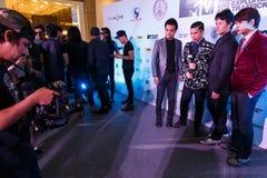 BANGKOK - 19 FÉVRIER 2014 : MTV sortent la conférence de presse tenue en ce Image stock