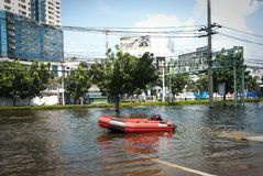 Bangkok-falschste Flut 2011 Stockfoto