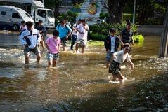 Bangkok-falschste Flut 2011 Lizenzfreies Stockfoto