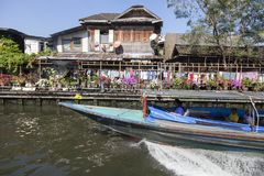 Bangkok fartygservice Arkivfoton