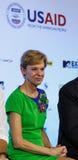 BANGKOK - 19 FEBBRAIO 2014: Ambasciatore Kristie Kenney degli Stati Uniti a MTV Fotografia Stock