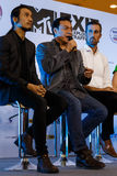 BANGKOK - 19 FEBBRAIO 2014: MTV esce la conferenza stampa tenuta in Ce Fotografia Stock