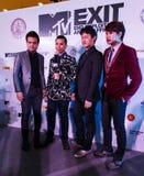 BANGKOK - 19 FEBBRAIO 2014: MTV esce la conferenza stampa tenuta in Ce Fotografie Stock