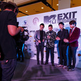 BANGKOK - 19 FEBBRAIO 2014: MTV esce la conferenza stampa tenuta in Ce Immagini Stock
