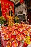 BANGKOK - FEBRUARI 10: Kinesiskt nytt år 2013 - berömmar in Arkivbilder
