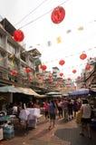 BANGKOK - FEBRUARI 10: Kinesiskt nytt år 2013 - berömmar in Arkivfoton