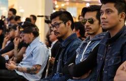 BANGKOK - FEBRUARI 19 2014: MTV utgångspresskonferens som rymms i Ce Royaltyfri Foto