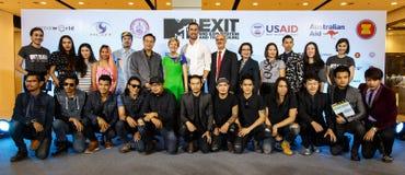 BANGKOK - FEBRUARI 19 2014: MTV utgångspresskonferens som rymms i Ce Royaltyfria Foton
