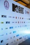 BANGKOK - FEBRUARI 19 2014: MTV utgångspresskonferens som rymms i Ce Royaltyfri Fotografi
