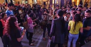 BANGKOK - FEBRUARI 19 2014: Toon (Athiwara Khongmalai) - ledningssi Arkivfoton