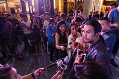 BANGKOK - FEBRUARI 19 2014: Toon (Athiwara Khongmalai) - ledningssi Royaltyfri Foto