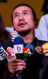 BANGKOK - FEBRUARI 19 2014: Toon (Athiwara Khongmalai) - ledningssi Fotografering för Bildbyråer