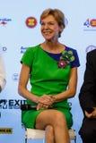 BANGKOK - FEBRUARY 19 2014: US Ambassador Kristie Kenney at MTV Royalty Free Stock Photos