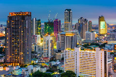 Bangkok Financial District Cityscape Stock Image