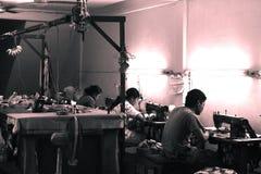 Bangkok firma wyzyskująca robotników Obraz Royalty Free
