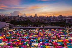 Bangkok Flea market aerial view Royalty Free Stock Photography