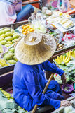 Bangkok Floating Market Stock Photo