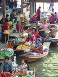 Bangkok floating market. World famous colorful and interesting floating market near Bangkok in Thailand Royalty Free Stock Photography