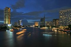 bangkok flod Royaltyfria Bilder