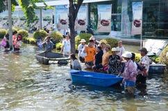 bangkok flod thailand Royaltyfria Bilder