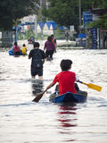 Bangkok Flood October 2011 Royalty Free Stock Photos