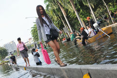 Bangkok Floods Stock Photo