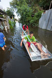 Bangkok floods 2011 Royalty Free Stock Images