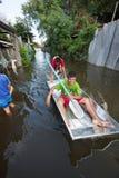 Bangkok floods 2011. BANGKOK , THAILAND - NOVEMBER 9, 2011 Royalty Free Stock Images