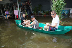 Bangkok floods 2011 Royalty Free Stock Photo