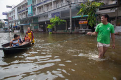 Bangkok floods 2011 Stock Photos
