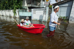 Bangkok floods 2011 Royalty Free Stock Image