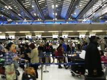 Bangkok flygplatssikt Arkivfoton