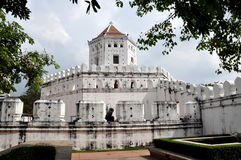 bangkok fortphra suman thailand Arkivfoton