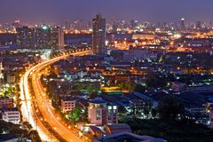 Bangkok Freeway to City Royalty Free Stock Images