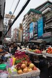 bangkok gatasäljare arkivbilder
