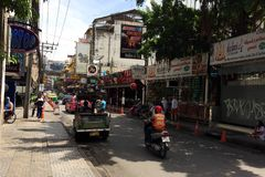 Bangkok gator Arkivfoto