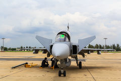 BANGKOK - 30 GIUGNO: JAS 39 Gripen Fotografia Stock Libera da Diritti